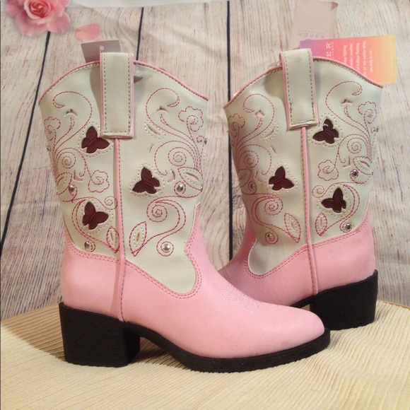 ef00f6ef57a Cute Pink Roper Kid Boots. Butterfly Light Up sz11 NWT
